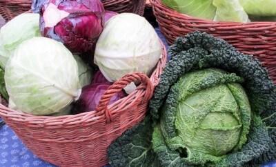 cesta llena de diferentes tipos de coles