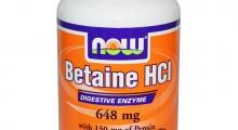 Betaina HCL de la marca Now