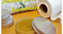 pomada para las hemorroides junto a papel higienico y toalla